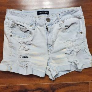 Aeropostale High Waisted Midi Jean shorts